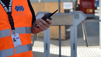Baustellenbewachung mit Drehkreuzanlagen