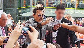 Personenschutz von Johnny Depp