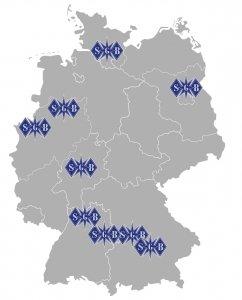 SGB Schutz und Sicherheit Deutschlandkarte